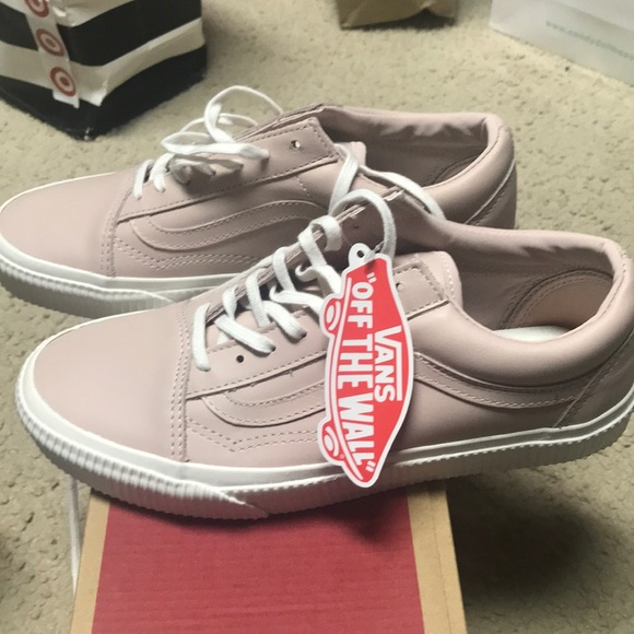 Old Skool Rose Colored Leather Brand